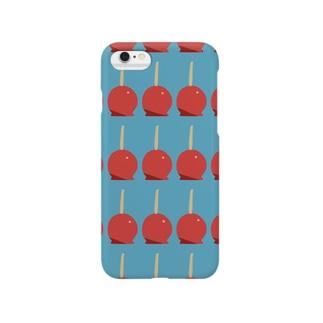 りんごあめ柄 Smartphone cases