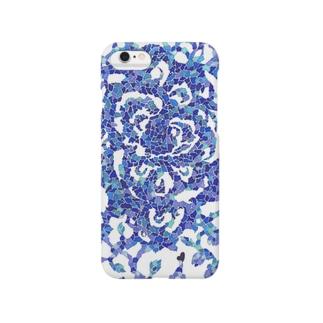 青い薔薇 Smartphone cases