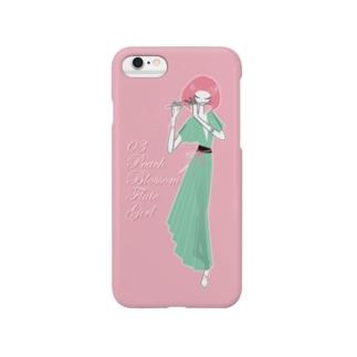 Peach blossom Flute Girl スマートフォンケース