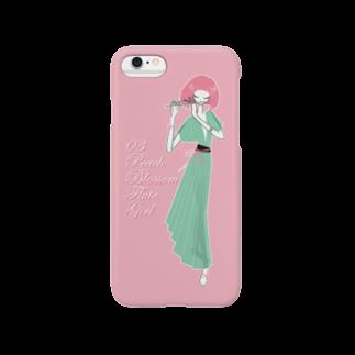 tomokomiyagamiのPeach blossom Flute Girl スマートフォンケース