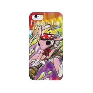 画家エリミミガエル(ピンク1) Smartphone cases