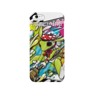 画家エリミミガエル(緑3) Smartphone cases
