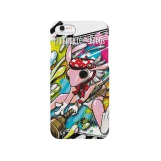 画家エリミミガエル(ピンク3) Smartphone cases