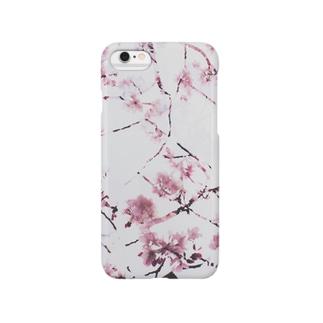 真白の桜花 Smartphone cases