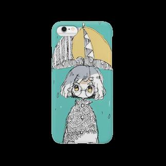 イナツキナツキの雨っ子スマホカバー Smartphone cases