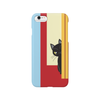 Tar-zansuのチラッと黒猫 スマートフォンケース