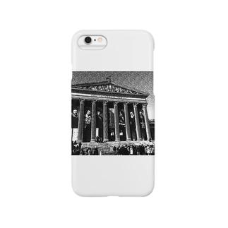 ハンガリーの国立美術館(デッサン風) Smartphone cases