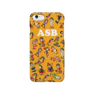 ASBスタッフキャラクターアイテム(オレンジ) Smartphone cases