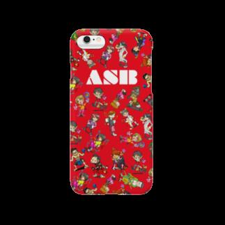 ASB boxingclub SHOPのASBスタッフキャラクターアイテム(赤)スマートフォンケース