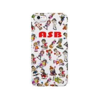 ASBスタッフキャラクターアイテム(白) Smartphone cases