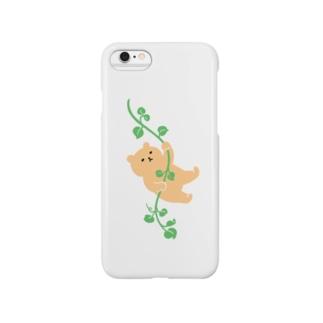 蔓にからまるクマ Smartphone cases
