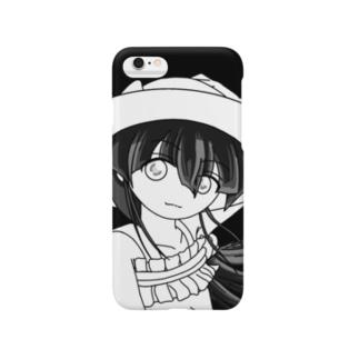 愛娘(仮):夏の香り・モノクロ Smartphone cases