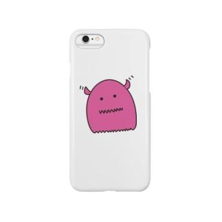 もにちゃん(ピンク) スマートフォンケース