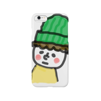顔の白い小さき人 Smartphone cases