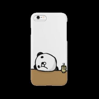 にしもんのキャラクターグッズのぱんだのえるのふてくされスマホケース Smartphone cases