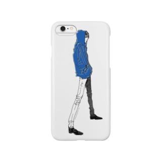 """Blue"" いけめんファッショニスタ Smartphone cases"