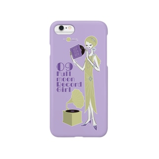 Full moon Record Girl Smartphone cases