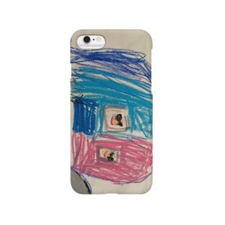 お母さんとボクの車スマホケース Smartphone cases