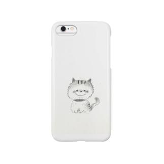 白黒にゃんこ Smartphone cases