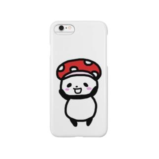 キノコ帽子のしのぱん Smartphone cases