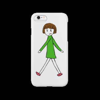 アヒルカフェのみどりちゃん Smartphone cases