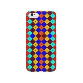 サイケ家紋 Series「隅立て四つ目(Smart Phone Remix)」 Smartphone cases