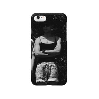 モノクロ アテラちゃん Smartphone cases