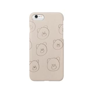 くまクッキーのiPhoneケース Smartphone cases