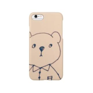 くまのiPhoneケース Smartphone cases