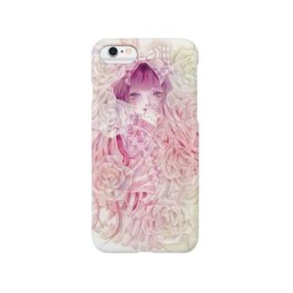 透明薔薇と少女 Smartphone cases