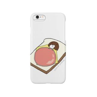 食パン布団 Smartphone cases