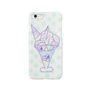 おにゆめかわパフェ(ミント) Smartphone cases