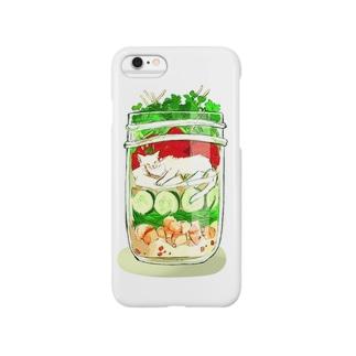 白地図のぬこジャーサラダ Smartphone cases