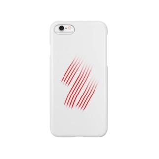赤斜線 Smartphone cases
