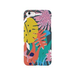 活気グラフィック「ジャングル」 Smartphone cases
