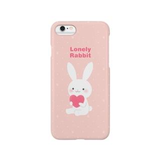 寂しがりうさぎ・ハート Smartphone cases