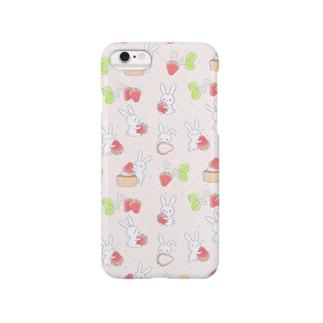 寂しがりうさぎ・苺A Smartphone cases