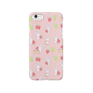 寂しがりうさぎ・苺B Smartphone cases
