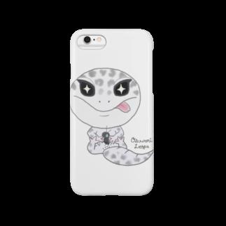 Zipply × Hachucliのおすわりレオパ(ごましおくん)スマートフォンケース