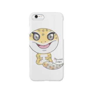 おすわりレオパ(ハイタン系) Smartphone cases