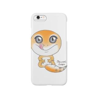 おすわりレオパ(スーパーハイタン系) Smartphone cases