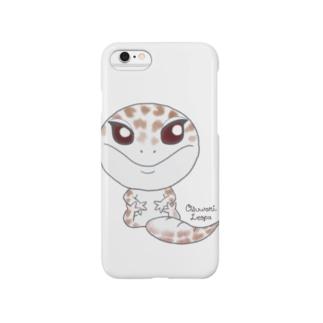 おすわりレオパ(スーパーアルビノ系) Smartphone cases