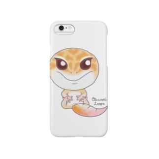 おすわりレオパ(ラプター系) Smartphone cases