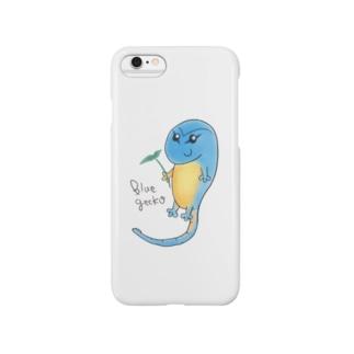 癒しのブルーゲッコー Smartphone cases