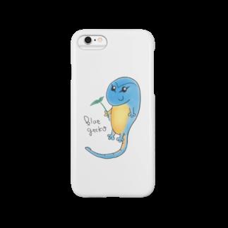 Zipply × Hachucliの癒しのブルーゲッコースマートフォンケース