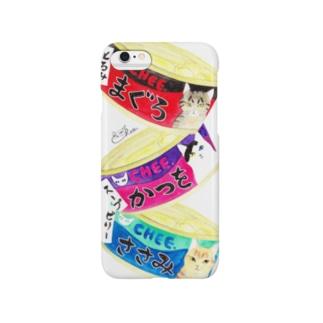 猫缶3個パック スマートフォンケース