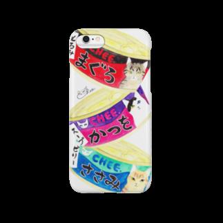 cheeの猫缶3個パック スマートフォンケース