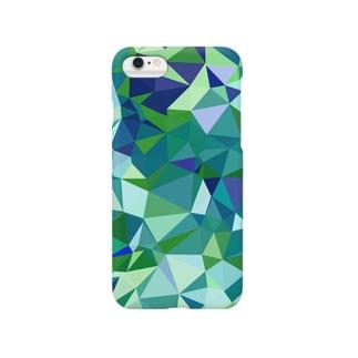 ポリゴン柄 Smartphone cases