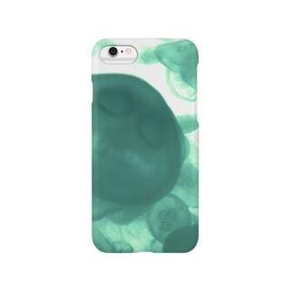 海月(緑) Smartphone cases