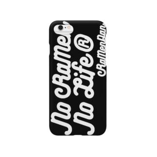 No RaMen No LiFe 黒 Smartphone cases